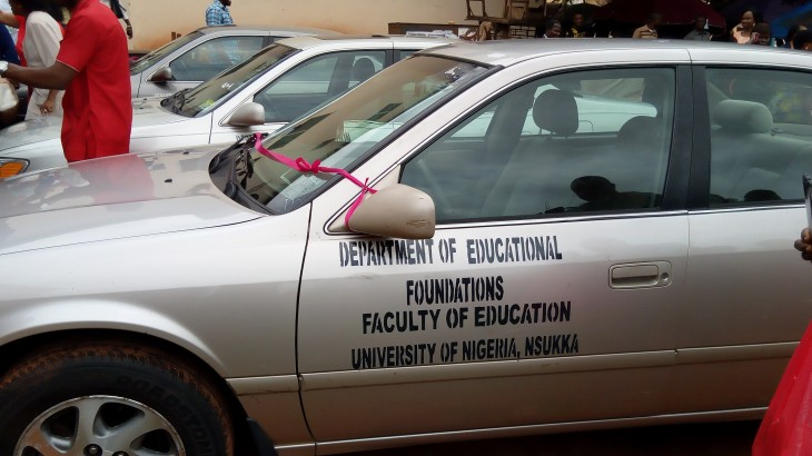 FOURS CARS DEDICATED TO VARIOUS DEPARTMENTS IN FACULTY OF EDUCATION